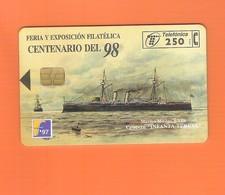 "CHIPCARD SPAIN P290  ""FILATELIA '97 - CRUCERO INFANTA TERESA - I""  10/97 - EX: 6000 - USED - Emissions Privées"