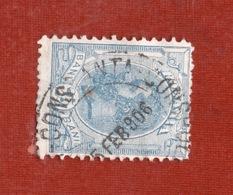 NAVIGAZIONE    ROMANIA   25 B.  CON ANNULLO  CONSTANTA - CONSTANTINOPLE - SMIRNE  5/2/1906 - Marittimi