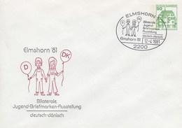 PU 113/40  Elmshorn`81 - Bilaterale Jugend-Briefmarken-Ausstellung Deutsch-dänisch, Elmshorn 1 - BRD