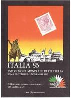 ITALIA '85 ESPOSIZIONE MONDIALE DI FILATELIA - Esposizioni