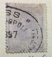NAVIGAZIONE ROMANIA 25 B.   CON ANNULLO  CONSPOLI  - EXPRESS  1897 - Marittimi