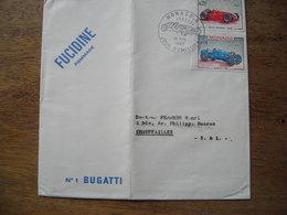 1987 Monaco Alfa Romeo 1950, Bugatti 1967, Fucidine Pommade, Laboratoire Leo - FDC