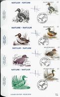 FD C Des N° 2332/35 Canards    Obl. Ivoz - Ramet 02/09/1989 - 1985-.. Vogels (Buzin)