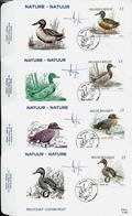 FD C Des N° 2332/35 Canards    Obl. Hever 02/09/1989 - 1985-.. Birds (Buzin)