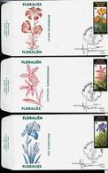 FDC Des N° 2357/9 Floralies Gantoises 1990  Obl. Zellik  03/03/90 - 1985-.. Pájaros (Buzin)