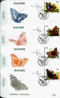 FDC Des N° 2503/6  Papillons  Obl. Teilt - Winge  08/05/93 - 1985-.. Birds (Buzin)