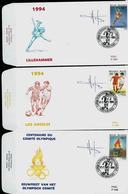 FDC Des N° 2540/42  Jeux Olympiques   Obl. Soignies  12/02/1994 - 1985-.. Pájaros (Buzin)