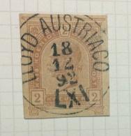 NAVIGAZIONE    AUSTRIA  2k.(postkarte)   CON ANNULLO  LL0YD AUSTRIACO  LXI  18/12/92 - Marittimi