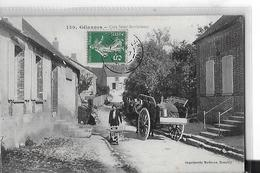 GELANNES N 130  COIN  SAINT BARTHELEMY  HOMME ET BROUETTE   CHARETTE    DEPT 10 - France