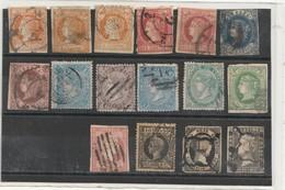 Espagne - Lot 16 Timbres 1850/68 - 1850-68 Koninkrijk: Isabella II