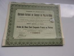 COMPAGNIE DU CHEMIN DE FER DE CLERMONT FERRAND AU SOMMET DU PUY DE DOME - Shareholdings