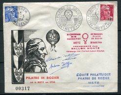 France - Env. Pilatre De Rozier Bicentenaire De Sa Naissance   - - Transportée Par Ballon - 1921-1960: Moderne