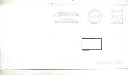 Lettre Flamme Ema Lyon Consulat Pologne - Marcophilie (Lettres)