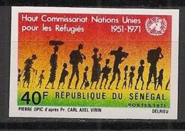 Sénégal - 1971 - N°Yv. 341 - HCR / Refugiés / ONU / UNO - Non Dentelé / Imperf. - Neuf Luxe ** / MNH / Postfrisch - Senegal (1960-...)