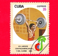 CUBA - Nuovo Obl. - 1982 - Giochi Centro-americani E Caraibici - Sollevamento Pesi - Weightlifting - 35 - Cuba