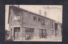 Rare La Neuville Aux Larris (51) Café Du Centre Hotel Restaurant G. Nolin ( Animée Photo Bougy) - Otros Municipios