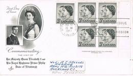 33082. Carta Aerea OTTAWA (Ontario) Canada 1957 To New Zealand. Visit Elisabeth II - 1952-.... Reinado De Elizabeth II