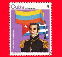 CUBA - Nuovo Obl. - 1983 - 200 Anni Della Nascita Di Simon Bolivar - José Rafael De Las Heras - 5 - Cuba