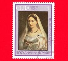 CUBA - Nuovo Obl. - 1983 - 500 Anni Nascita Di Raffaello - Dipinto, La Donna Velata, 1514-1515 - 1 - Cuba