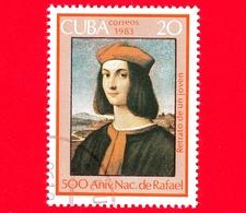 CUBA - Nuovo Obl. - 1983 - 500 Anni Nascita Di Raffaello - Dipinto, Ritratto Del Cardinale, 1510 - 2 - Cuba