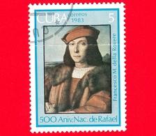 CUBA - Nuovo Obl. - 1983 - 500 Anni Nascita Di Raffaello - Dipinto, Ritratto Di Francesco Maria I Della Rovere, 1504-150 - Cuba