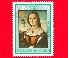 CUBA - Nuovo Obl. - 1983 - 500 Anni Nascita Di Raffaello - Dipinto, Ritratto Di Maddalena Doni, 1506 - 30 - Cuba