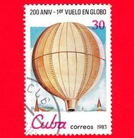 CUBA - Nuovo Obl. - 1983 - Bicentenario Dell'Aeronautica - Mongolfiere - 1 Volo Non Presidiato - 30 - Cuba
