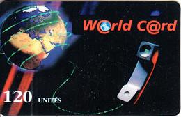 FRANCE - Earth, World Prepaid Card 120 Unites, Used - Espacio