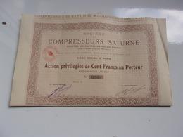 COMPRESSEURS SATURNE (1919) - Aandelen