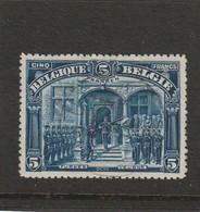 COB N° 147a ( Franken ) Oblitéré - 1915-1920 Albert I