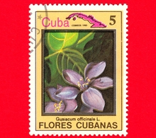 CUBA - Nuovo Obl. - 1983 - Piante - Flora - Fiori Cubani - Guaiacum Officinale - 5 - Cuba