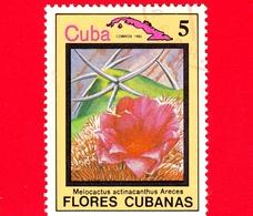 CUBA - Nuovo Obl. - 1983 - Piante - Flora - Fiori Cubani - Melocactus Actinacanthus - 5 - Cuba