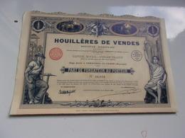 HOUILLERES DE VENDES  Ambrières Le Grand,mayenne (imprimerie RICHARD) - Aandelen