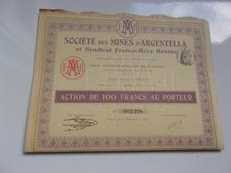 MINES D'ARGENTELLA Et Syndicat Franco Hova Réunis (corse)1911 - Shareholdings