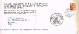 33083. Carta STROMNESS (Orkney) 1980. 200 Ann Arrival JAMES COOK. Ship, Barco - 1952-.... (Elizabeth II)