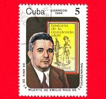 CUBA - Nuovo Obl. - 1984 - 20 Anni Della Morte Di Emilio Roig De Leuchsenring (1889-1964), Storico - 5 - Cuba