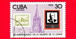 CUBA - Nuovo Obl. - 1984 - 60 Anni Della Morte Di V. I. Lenin - 30 - Cuba