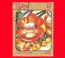 CUBA - Nuovo Obl. - 1984 - Fiori Caraibici - Couroupita Guianensis - 2 - Cuba