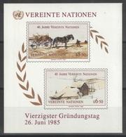 Nations Unies (Vienne) - Blocs - YT 2 ** MNH - 1985 - Blocks & Kleinbögen