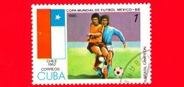 CUBA - Nuovo Obl. - 1985 - Coppa Del Mondo Di Calcio,  Messico 1986 - Cile (1962) - 1 - Cuba