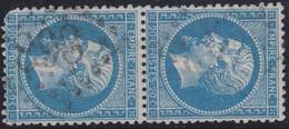 N°22 Paire Position 14D3 24D3, Pas Facile De La Positionner, Un Angle Court Sinon TB - 1862 Napoléon III