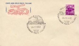 Busta 100 ANNI DELLE POSTE ITALIANE, Francobollo 15 Lire, 26/11/1962, Bollo CLAVIERE MILANO - PERFETTA AM-V-2 - 6. 1946-.. Repubblica