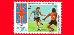 CUBA - Nuovo Obl. - 1985 - Coppa Del Mondo Di Calcio,  Messico 1986 - Inghilterra (1966) - 2 - Cuba