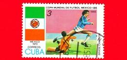 CUBA - Nuovo Obl. - 1985 - Coppa Del Mondo Di Calcio,  Messico 1986 - Messico (1970) - 3 - Cuba