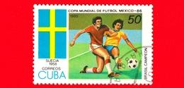 CUBA - Nuovo Obl. - 1985 - Coppa Del Mondo Di Calcio,  Messico 1986 - Svezia (1958) - 50 - Cuba