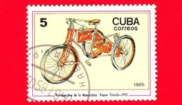 CUBA - Nuovo Obl. - 1985 - Motociclette - Daimler - Kayser-Dreirad, 1910 - 5 - Cuba