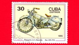CUBA - Nuovo Obl. - 1985 - Motociclette - Daimler - Mars A20, 1926 - 30 - Cuba
