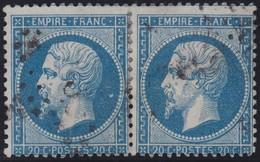 N°22 Paire Position 88C3 89C3, Pas Facile De La Positionner, TB - 1862 Napoléon III