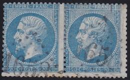 N°22 Paire Position 9D3 10D3, Pas Facile De La Positionner, TB - 1862 Napoléon III