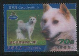 NORTH KOREA 2019 DOG 3D STAMP - Chiens